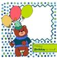 Card with bear boy vector image