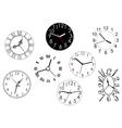 Set of clock dials vector image
