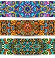 Festive Ornamental banner Ethnic tribal Set vector image