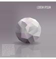 Geometric ball background vector image