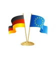 Germany and europe table flag isolated vector image