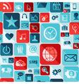 Social media flat icons seamless pattern vector image