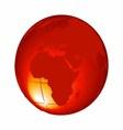 3d orange Globe Isolated on White Background vector image vector image