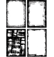 a collection of high detail grunge frames and elem vector image vector image