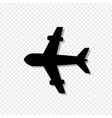 airplane icon isolated on transparent background vector image