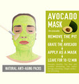 anti-aging face pack vector image vector image