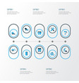 architecture colorful icons set collection of vector image vector image