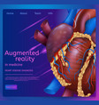 augmented reality in medicine vector image vector image