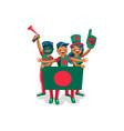 bangladesh flag bangladeshi people vector image vector image