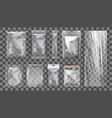 big set transparent empty plastic packaging vector image vector image