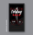 black friday instagram post and stories vector image