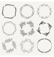 Black Hand Sketched Floral Frames Borders vector image vector image