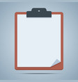 Blank clipboard vector image vector image