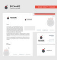 bomb business letterhead envelope and visiting vector image vector image