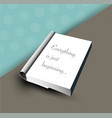 book template notary vector image vector image