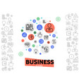 business and management concept vector image