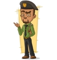 Cartoon man with handgun and holster vector image vector image