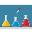 chemistry and Medical Laboratory vector image vector image