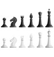 chess icons set cartoon style vector image