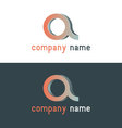 Company logo design elements vector image vector image