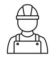construction man icon outline style vector image