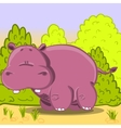 Cute cartoon Hippo