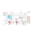 empty coworking space modern office interior vector image