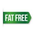 Fat Free sign ribbon vector image
