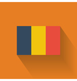 Flat flag of Romania vector image vector image
