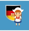 german oktoberfest cartoon vector image