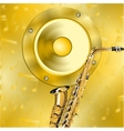 Golden music background vector image vector image