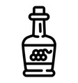 grapes vinegar icon outline style vector image vector image