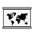 hanging world map vector image vector image