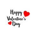 happy valentines day hand drawing lettering vector image