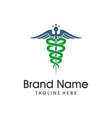 medical symbol logo vector image vector image