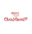 merry christmas red hand lettering inscription vector image
