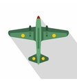 Military aircraft icon flat style vector image vector image