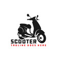 motorcycle scooter logo vector image vector image