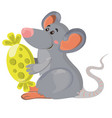 mouse with candy cheese vector image vector image
