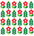 nordic christmas folk art seamless pattern vector image vector image