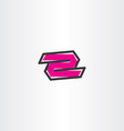 number two 2 symbol logo icon element vector image