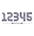 numbers polynesian style in a set 12345 vector image vector image