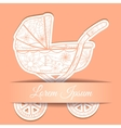 Paper background with baby carriage vector image vector image