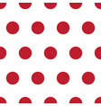 red and white polka dot seamless repeating pattern vector image vector image