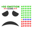 sad face smile icon with bonus emotion clipart vector image vector image