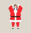 santa claus playing with happy kid for christmas vector image