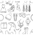 seamless doodle fashion pattern vector image vector image