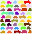 seamless pattern with colorful little cars vector image