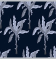 seamless pattern with exotic banana trees vector image vector image