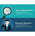 Search Engine Optimization programming business up vector image